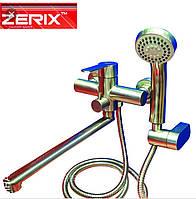 Смеситель для ванной,с душем.Из нержавеющей стали Zerix LR 72203