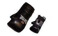 Снарядные перчатки (блинчики) Кожа MATSA MA-6011-M (р-р S-XL, манжет на липучке, чёрный)