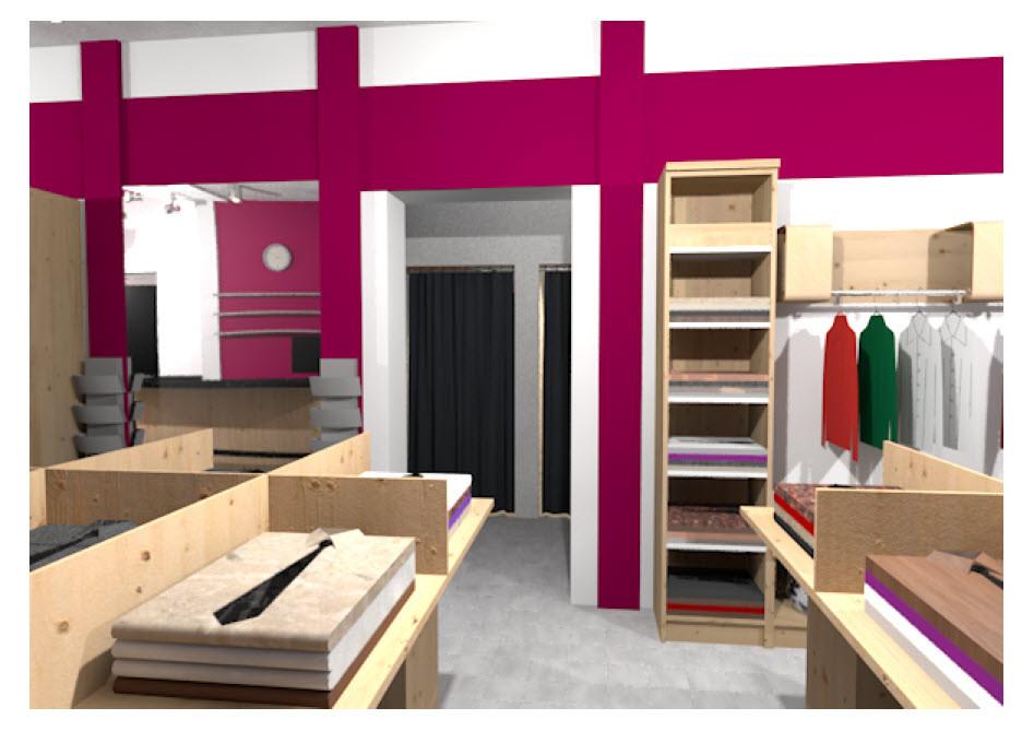 Интерьер магазина одежды 1