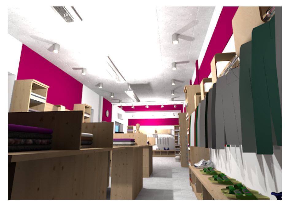 Интерьер магазина одежды 2
