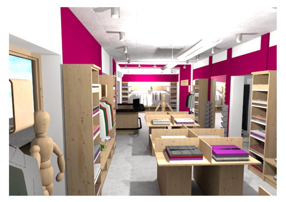 Интерьер магазина одежды 3