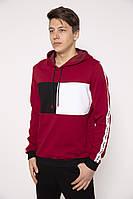 Худи мужское 119R050(740) цвет Бордовый