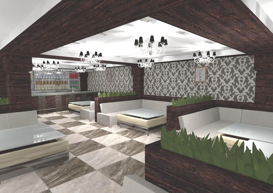 Интерьер ресторана на 520м.кв. 2