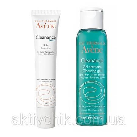 Набор Avene Cleanance  Expert 40мл + очищающий гель 100мл