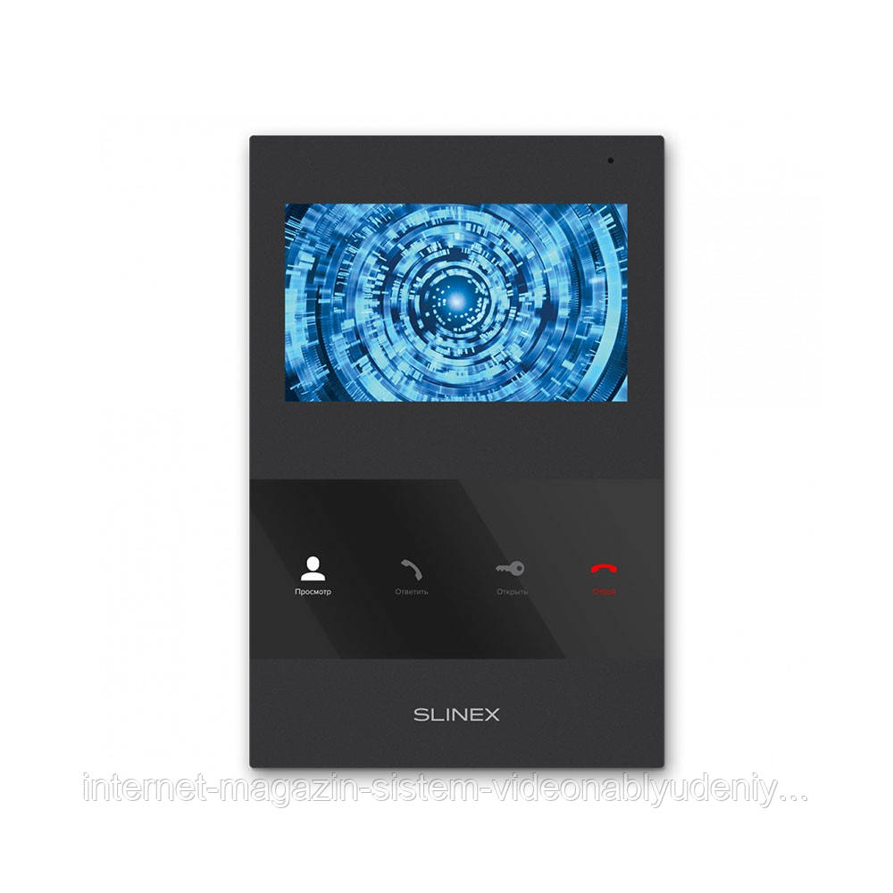 Цветной видеодомофон Slinex SQ-04M Черный