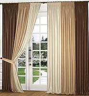 Готовые шторы Микс красивый комплект для зала недорого