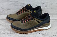 Мужские кожаные кроссовки Ecco (Реплика) (Код: ЕК ол  ) ►Размеры [40,41,42,43,44,45], фото 1