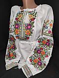 Вишиванка жіноча на домотканому полотні, з довгим рукавом, 42-60 р-ры, 670/620 (цена за 1 шт. + 50 гр.), фото 2