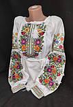 Вишиванка жіноча на домотканому полотні, з довгим рукавом, 42-60 р-ры, 670/620 (цена за 1 шт. + 50 гр.), фото 3