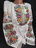 Вишиванка жіноча на домотканому полотні, з довгим рукавом, 42-60 р-ры, 670/620 (цена за 1 шт. + 50 гр.), фото 4