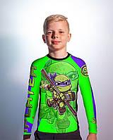 Детский рашгард TMNT green (Teenage Mutant Ninja Turtles) зелёный