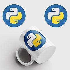 Чашка з принтом Python. Пітон. Чашка з фото