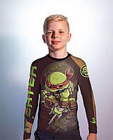 Детский рашгард TMNT black (Teenage Mutant Ninja Turtles) черный, фото 1