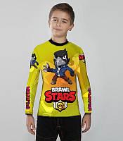 Детский рашгард Brawl Stars yellow (Желтый), фото 1