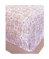 Простыня на резинке поплин Royal beige 180х200+18 см