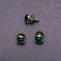 """Фурнитура """"Живые глазки"""" цвет зеленый, диаметр 10мм фас.50пар"""