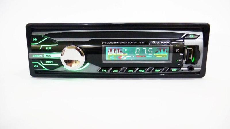 Pioneer 3215BT Bluetooth Usb  Автомагнитола сRGB подсветкой+Fm+Aux+ пульт (4x50W)+ПОДАРОК!