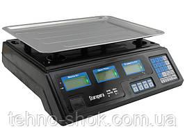 Торговые весы Staropera 50кг со счетчиком цены, 6V 4A