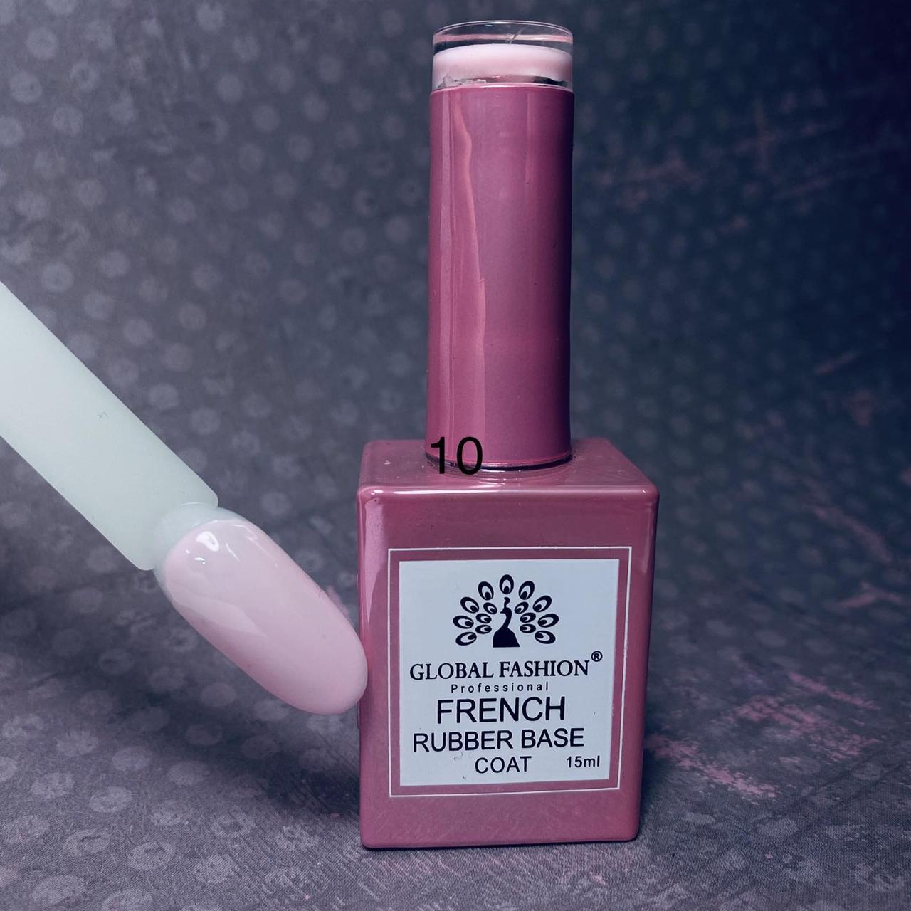 Каучукова камуфляжна база під френч Global Fashion French № 10