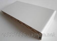 350 мм Белый - пластиковый подоконник Эко Green Line Elyzium (Элизиум)