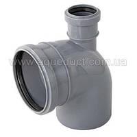 Колено (отвод) внутренней канализации д.110/50х90 вверх Инсталпласт