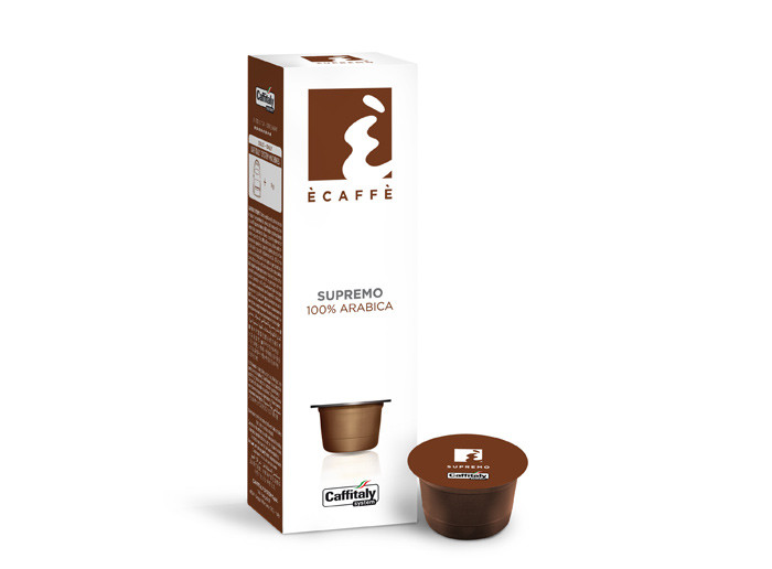 Кофе в капсулах Caffitaly Cafissimo Ecaffe Supremo 8/10 (100% арабика) 10 шт. Италия