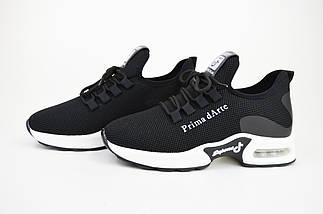Кроссовки Prima d'Arte 9916 Черные текстиль, фото 3