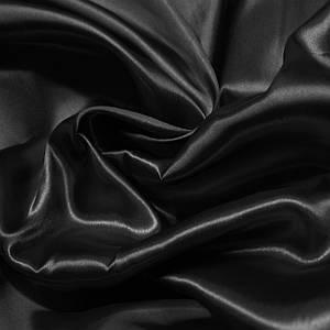 Ткань атлас дешевый плотный черный