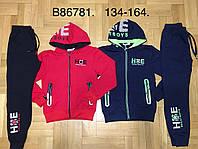Трикотажные спортивные костюмы на мальчиков оптом, Grace, 134-164