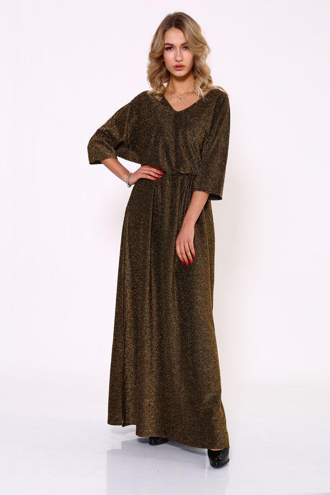 Платье женское 115R346 цвет Золотистый