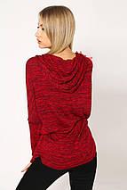 Батник женский 115R158 цвет Красный меланж, фото 2