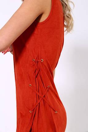 Платье 104R134 цвет Терракотовый, фото 2