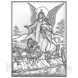 """Икона серебряная Beltrami  """"Ангел-хранитель"""",13x18"""