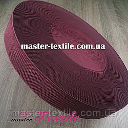 Резинка поясная 5 см, 25 м (бордо)