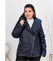 Куртка женская батальная весенняя арт 17-191 с 50 по 64 размер (мин)