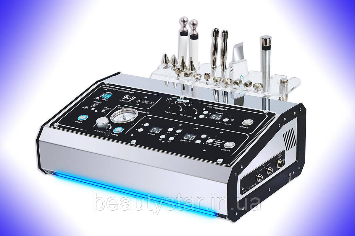 Косметологічний комбайн Alvi-Pragua 4 в 1 апарат УЗ-скрабер Мікроструми Мікодермабразія Мезотерапія