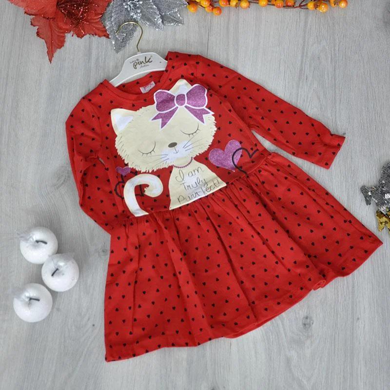Детское трикотажное платье, размер: 2-3-4-5 лет (4 ед. в уп.)