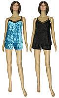 NEW! Роскошные женские пижамы из мраморного бархатного велюра и французского кружева - серия Miranda ТМ УКРТРИКОТАЖ!