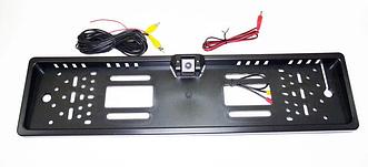 Камера заднего вида в рамке автомобильного номера (с подсветкой 16LED  Черная)