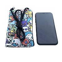 Сумочки для телефонов на шею Покемоны  (10х16 см)