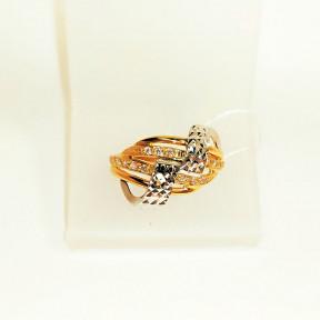 Золотое кольцо с алмазной гранью Мирьем