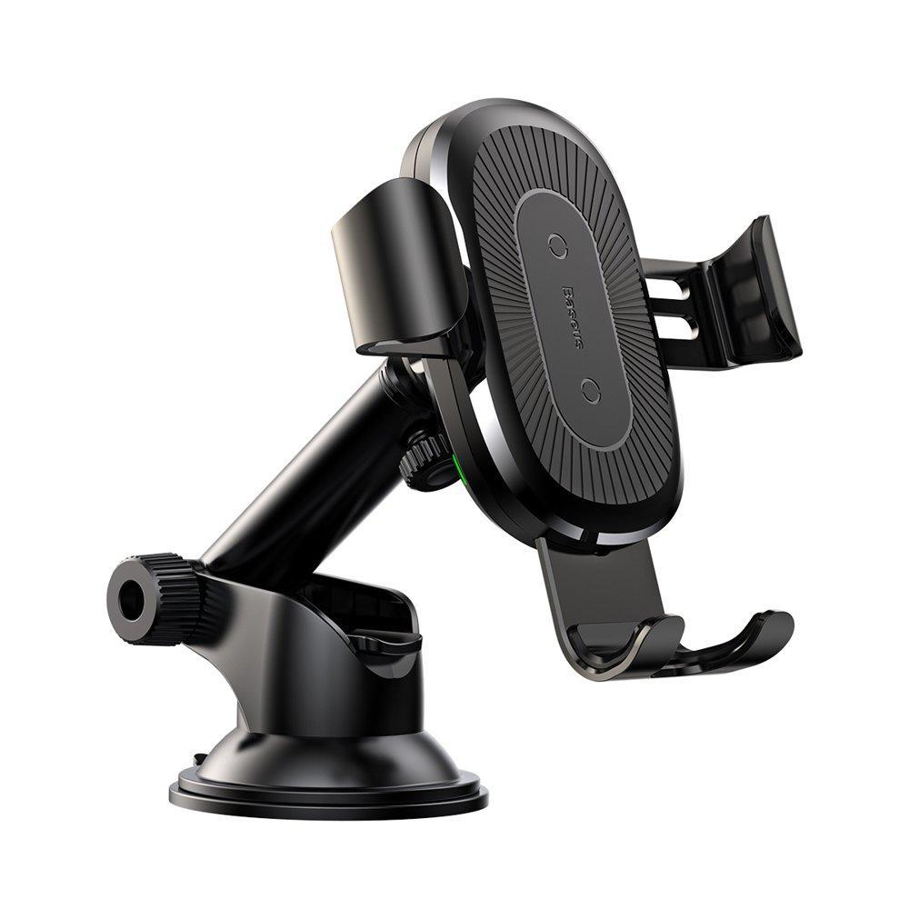 Baseus Wireless Charger Gravity Car Mount (osculum type) беспроводное автомобильное ЗУ чёрный