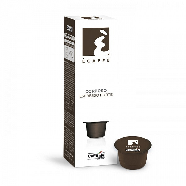 Кофе в капсулах Caffitaly Cafissimo Ecaffe Corposo 9/10 (45% арабика / 55% робуста) 10 шт. Италия