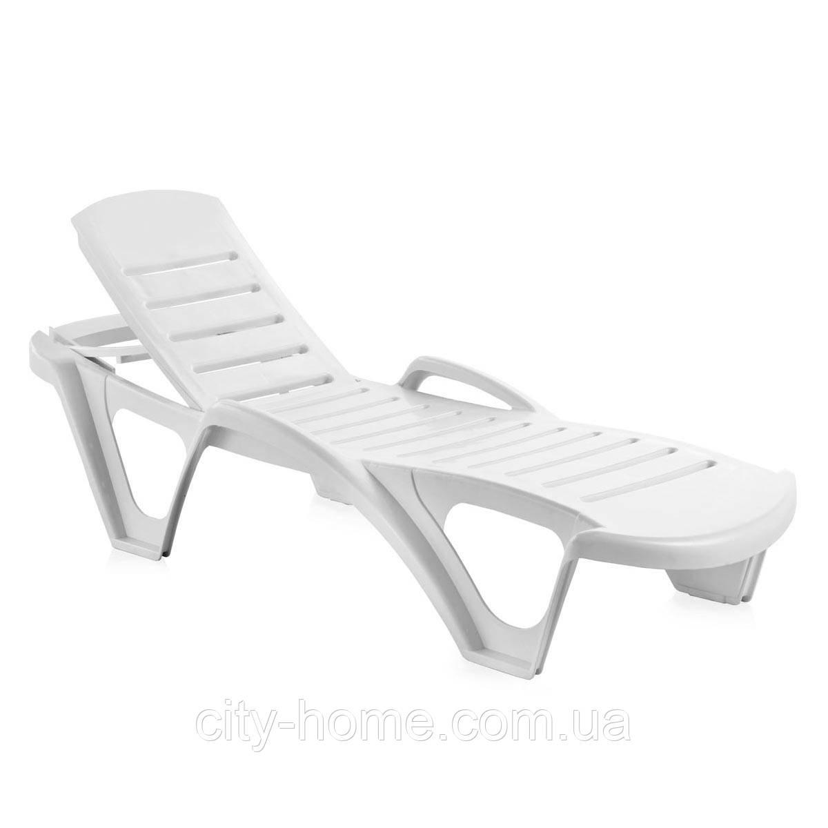 Пляжний Лежак Monoblock білий