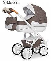 Детская универсальная коляска 2 в 1 Riko Brano lux 01 Mocca