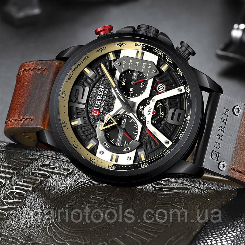 Часы Curren 8329 wach Black-Brown  с хронографом, 100% Оригинал!
