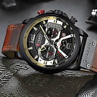 Часы Curren 8329 wach Black-Brown  с хронографом, 100% Оригинал!, фото 1