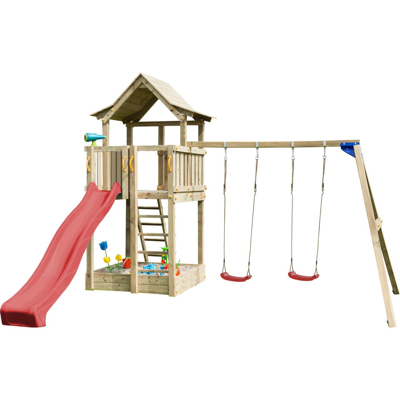 Детская игровая площадка Blue Rabbit PAGODA + качели SWING для детей