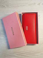 Женский кошелек клатч на кнопке Balisa красный вместительный