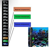 Термометр - наклейка для аквариума/ 18-34C 13см аквариумный градусник, фото 1
